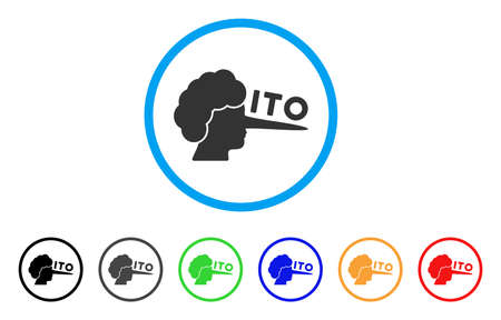 ITO Lier icon. Vector illustration style is a flat iconic ITO lier black symbol with gray, yellow, green, blue color variants. Designed for web and software interfaces.