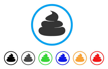 Crap icon. Vector illustration style is a flat iconic crap black symbol with gray, yellow, green, blue color versions. Designed for web and software interfaces.