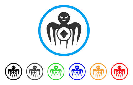 Gambling Spectre Monster icon. Vector illustration style is a flat iconic gambling spectre monster black symbol with gray, yellow, green, blue color versions. Designed for web and software interfaces. Illustration