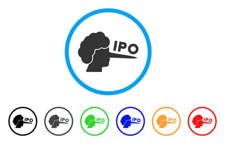 IPO Lier icon. Vector illustration style is a flat iconic IPO lier black symbol with gray, yellow, green, blue color variants. Designed for web and software interfaces. Illustration