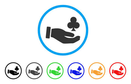 Croupier Hand icon. Vector illustration style is a flat iconic croupier hand black symbol with gray, yellow, green, blue color versions. Designed for web and software interfaces. 向量圖像