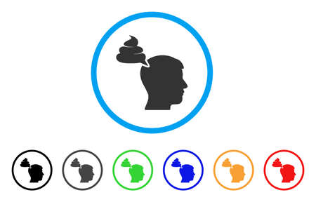 Crap Thinking Person icon. Vector illustration style is a flat iconic crap thinking person black symbol with gray, yellow, green, blue color versions. Designed for web and software interfaces. Illustration