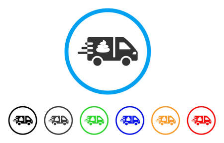 Express Manure Delivery icon. Vector illustration style is a flat iconic express manure delivery black symbol with gray, yellow, green, blue color versions. Designed for web and software interfaces.