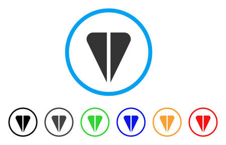 Ton Currency rounded icon. Style is a flat grey symbol inside light blue circle with bonus colored versions. Ton Currency vector designed for web and software interfaces.
