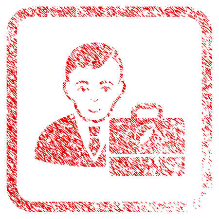Electroneum Accounter rubber seal watermark. Icon raster symbol with grungy design and dust texture in rounded frame. Scratched red sign. Boy face has happy emotion.