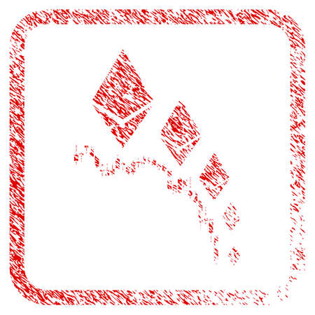 Ethereum Deflation Chart rubber seal stamp imitation. Icon raster symbol with grunge design and dust texture inside rounded frame. Scratched red stamp imitation of ethereum deflation chart. Reklamní fotografie