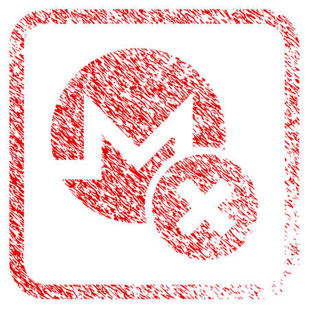 Wrong Monero rubber seal stamp imitation. Icon raster symbol with grunge design and dust texture inside rounded frame. Scratched red sign of wrong monero.