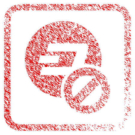 Forbidden Dashcoin rubber seal stamp watermark. Icon raster symbol with grunge design and dust texture in rounded frame. Scratched red sign of forbidden dashcoin. Imagens