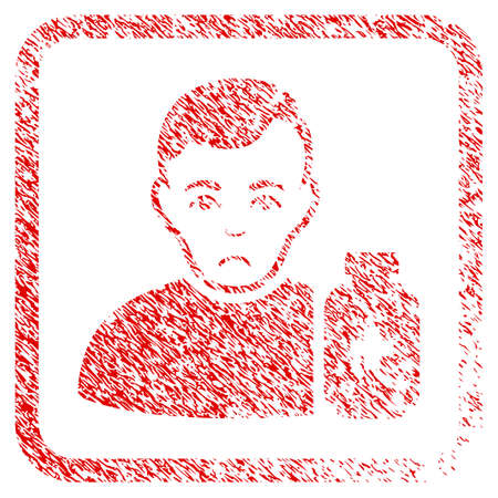 Medical Pharmacist rubber seal stamp watermark. Person face has mourning emotion. Scratched red sticker of medical pharmacist.