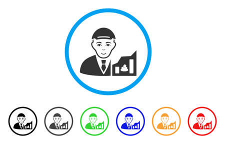 Shitcoin Trader rounded icon. Style is a flat shitcoin trader grey symbol inside light blue circle with black, gray, green, blue, red, orange variants. Enjoy shitcoin trader vector icon.