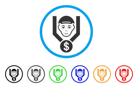 Customer Sales Filter rounded icon. Style is a flat customer sales filter grey symbol inside light blue circle with black, gray, green, blue, red, orange color versions.