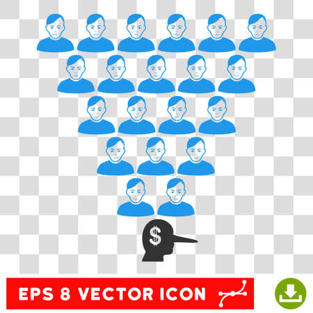Ponzi Pyramid Manager EPS vector icon. Illustration style is flat iconic symbol on chess transparent background.