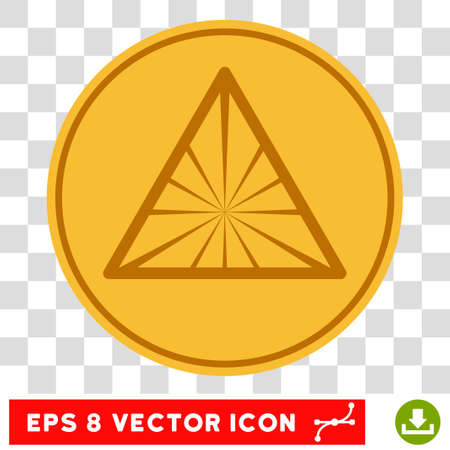 Pyramid Rays EPS vector icon. Illustration style is flat iconic symbol on chess transparent background. Illustration