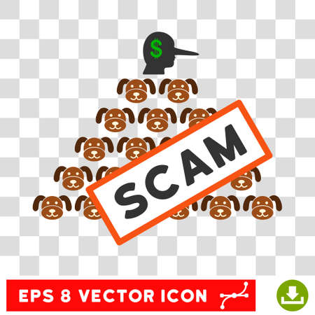 Puppycoin Pyramid Scam EPS vector pictogram. Illustration style is flat iconic symbol on chess transparent background.