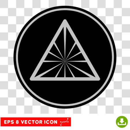 Pyramid Rays EPS vector pictograph. Illustration style is flat iconic symbol on chess transparent background.