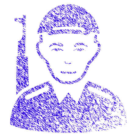 Grunge Asian Soldier rubber seal stamp watermark Illustration