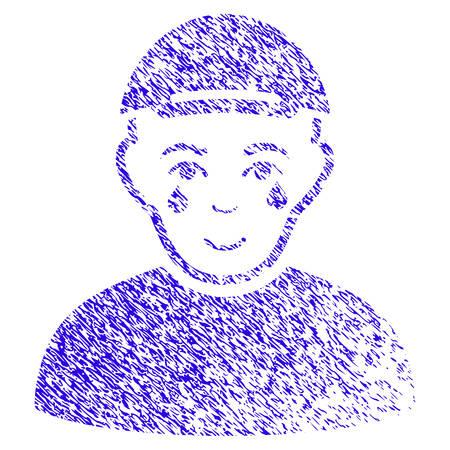 Grunge Crying Man rubber seal stamp watermark