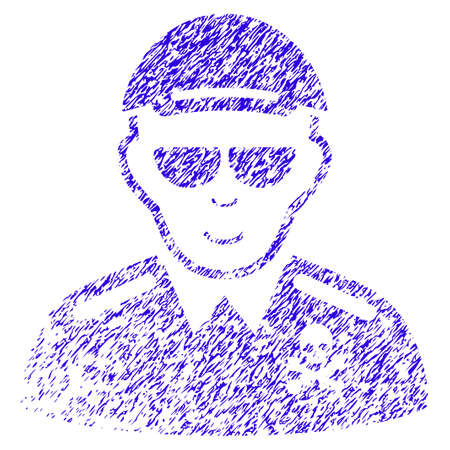Grunge Deadly Officer rubber seal stamp watermark