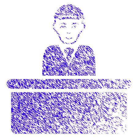 Grunge Official man rubber seal stamp watermark Stock Illustratie