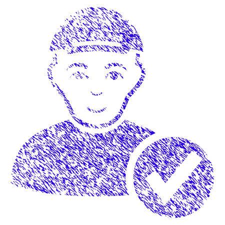 Grunge Apply User rubber seal stamp