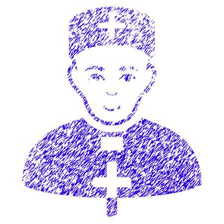 Grunge Monastic Doctor rubber seal stamp Illustration