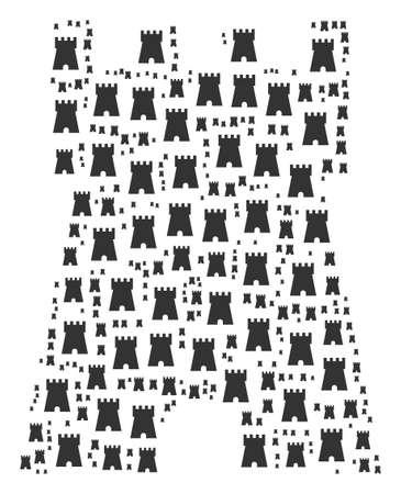 Bulwark tower figure image illustration