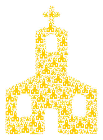 Christian Church illustration organized in the figure of christian church elements. Ilustrace