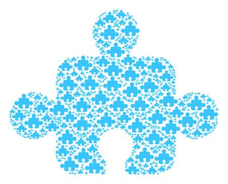 Puzzle piece image illustration