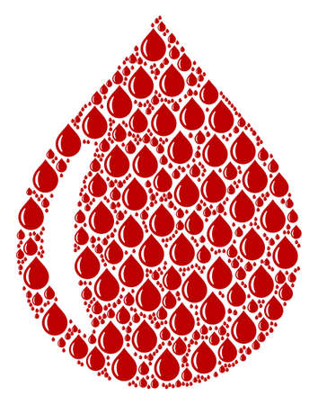 Red liquid pattern drop image illustration Illustration