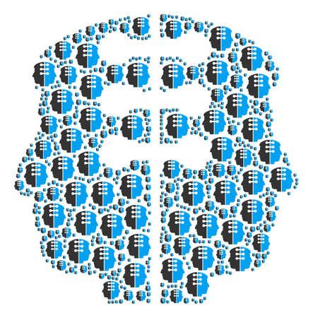 Dual head interface image illustration