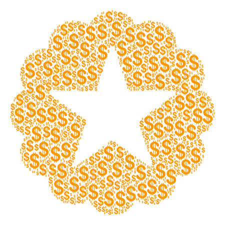 Quality composition of dollar symbols. Raster dollar symbols are combined into quality collage. Stock Photo