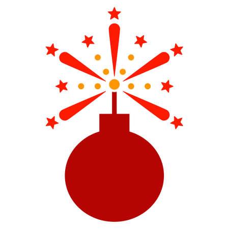 Fireworks detonator vector pictogram illustration style is a flat iconic symbol. Illustration