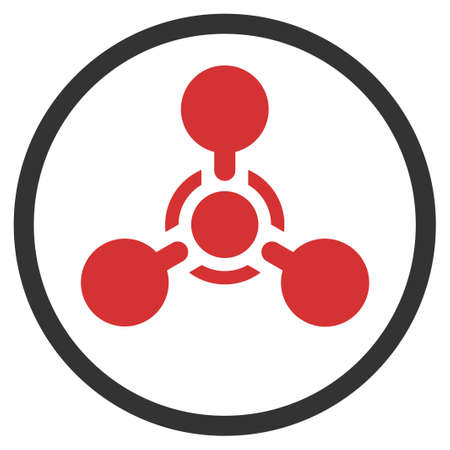 Nerve agent chemical warfare vector pictogram. Illustration style is a flat iconic symbol.