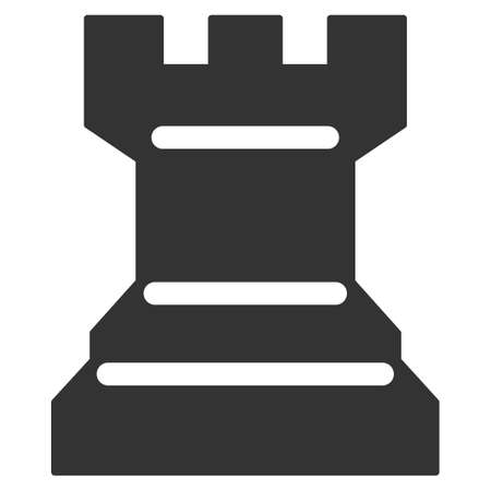 Chess Tower vector pictograph. Illustration style is a flat iconic symbol.