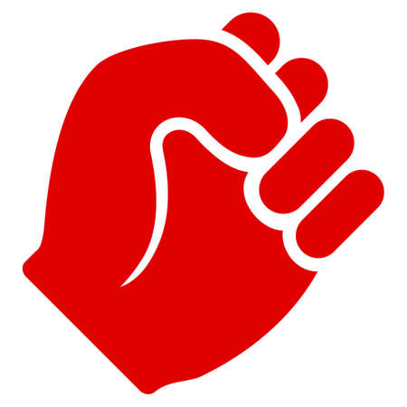 Fist vector pictogram. Illustration style is a flat iconic symbol. Illustration