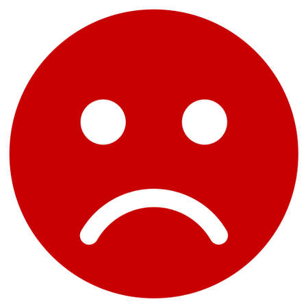 Sad mood smiley vector pictogram. Illustration style is a flat iconic symbol. Illustration