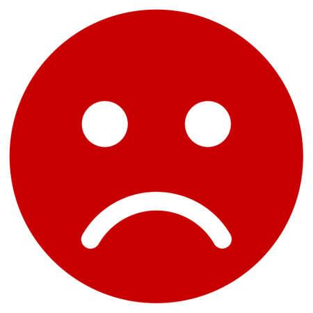 Sad mood smiley vector pictogram. Illustration style is a flat iconic symbol. Illustration