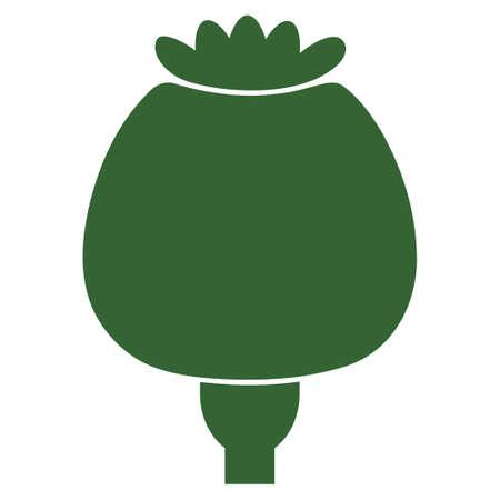 Opium Poppy vector pictogram. Illustration style is a flat iconic symbol. Illustration