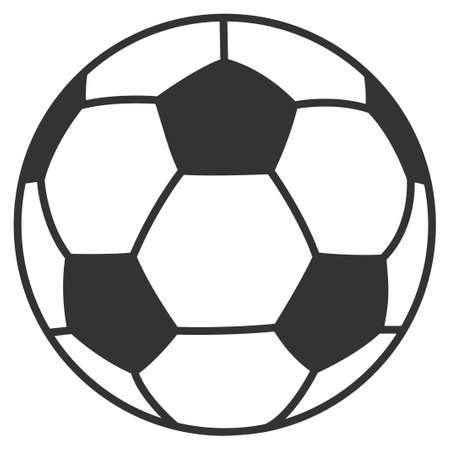 Football ball vector pictograph. Illustration style is a flat iconic symbol. Ilustrace