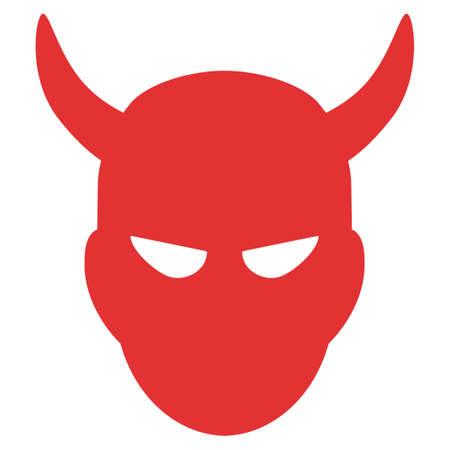 Daemon head vector icon. Illustration style is a flat iconic symbol. Ilustração