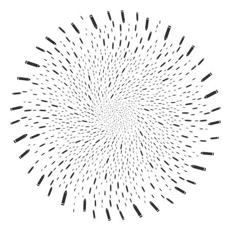 Edit Pencil spiral cluster. Element spiral combined from randomized edit pencil items. Vector illustration style is flat iconic symbols.