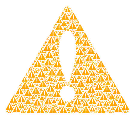Advice Triangle Sign concept composed of warning pictograms. Vector warning elements are combined into geometric hazard triangle sign pattern. Ilustração