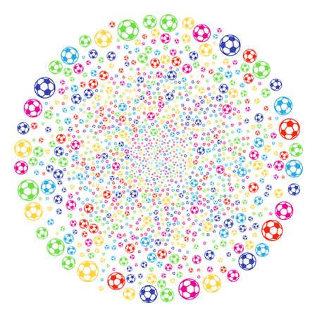Colorful soccer balls decoration cluster