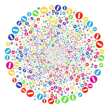 Multicolored Forbidden Access cluster vector Ilustrace