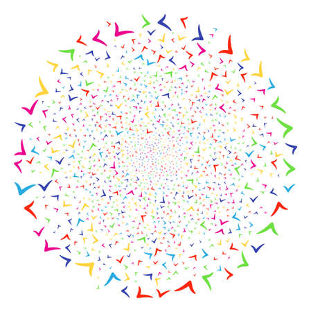 Colorful Yes fireworks sphere. Vector cluster explosion organized from random yes items. Colorful Vector illustration.
