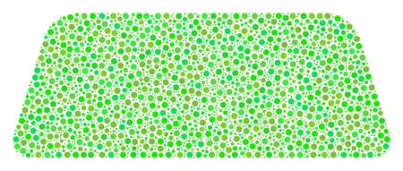 Treasure Brick collage of dots in various sizes and eco green shades. Round dots are grouped into treasure brick vector illustration. Freshness vector illustration.