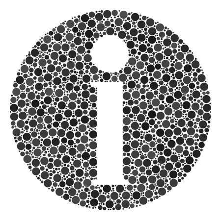 Information collage of filled circles in different sizes.