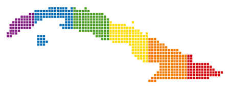 A dotted LGBT Cuba Map for lesbians, gays, bisexuals, and transgenders.