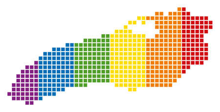 A dotted LGBT Ontario Lake Map for lesbians, gays, bisexuals, and transgenders. Illustration