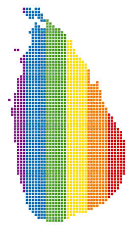 A dotted LGBT Sri Lanka Island Map for lesbians, gays, bisexuals, and transgenders.